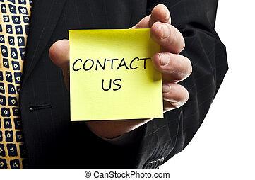 poste, contact, il, nous
