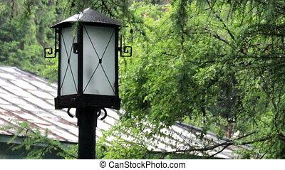 poste, démodé, lampe