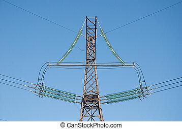 poste, de alto voltaje