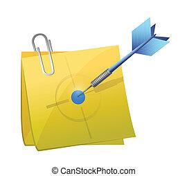 poste, desenho, alvo, ilustração, dardo