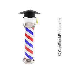 poste, educación, peluquero, clásico