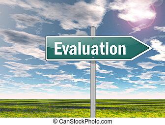 poste indicador, evaluación