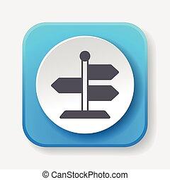 poste indicador, icono