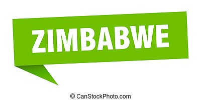 poste indicador, indicador, zimbabwe, verde, señal, sticker.