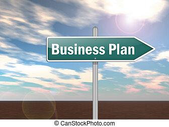 poste indicador, plan, empresa / negocio