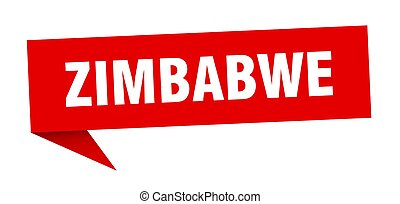 poste indicador, sticker., zimbabwe, señal, rojo, indicador