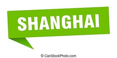 poste indicador, verde, shanghai, sticker., señal, indicador