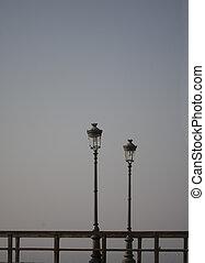 poste, lámpara