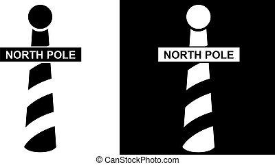 poste, norte, icono