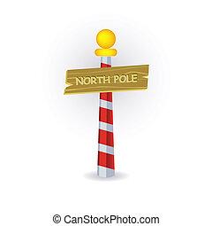 poste, norte, señal