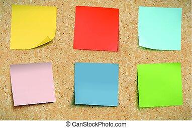 poste, notes, multicolore, il