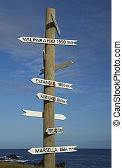 poste, pascua, chile, isla, señal