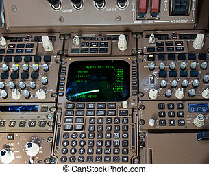 poste pilotage, contrôle, panel.