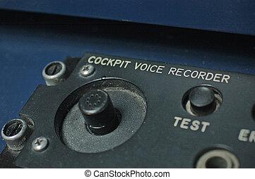 poste pilotage, enregistreur, voix