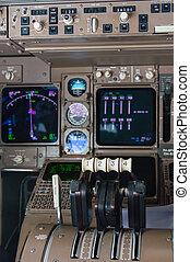 poste pilotage, instruments, avion