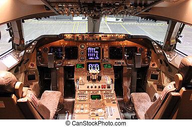 poste pilotage, jet