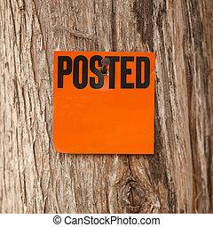 Posted Orange Notice