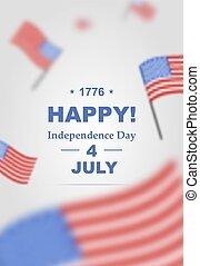 poster, 4, dag, onafhankelijkheid, july.