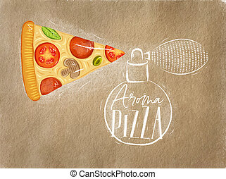 Poster aroma pizza craft