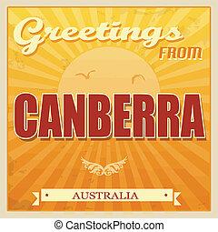 poster, australië, canberra