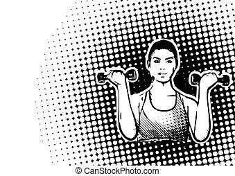 poster, backgroud, fitness