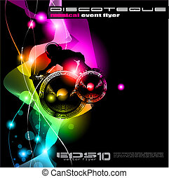 Background for music international disco even - Poster...