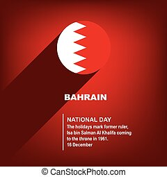 National Holiday in Bahrain - National Day. Poster for event