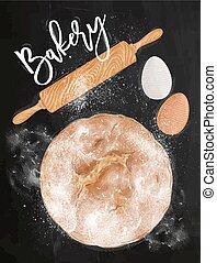 Poster bakery chalk