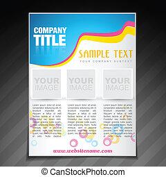 poster, bedrijf, moderne, flyer, mal, informatieboekje