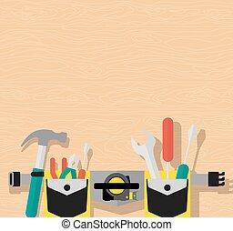 poster belt of tools brown