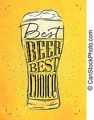 Poster best beer yellow