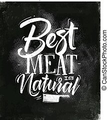 Poster best meat chalk