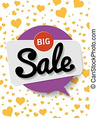 Poster big discount. Vector illustration for poster or flyers, B