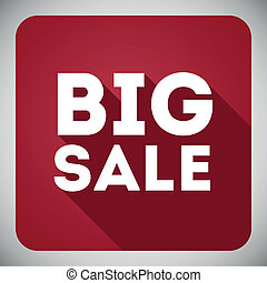 Poster Big sale, flat icon with shadow