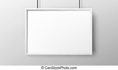 Poster Blank Advertisement Paper With Frame Vector