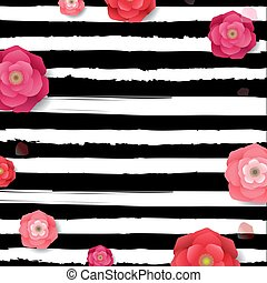 poster, bloemen