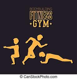 poster bodybuilding fitness gym design