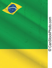 poster brazil grunge - A poster with a brazilian flag for...
