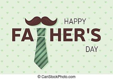 poster., card., saludo, día padre, feliz