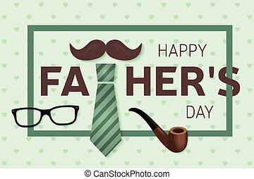 poster., card., saludo, día, vector, father's, feliz