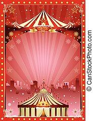 poster christmas circus city show