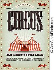 poster, circus, ontwerp