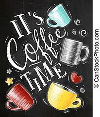 Poster coffee time chalk