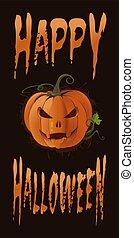 Poster concept design for Halloween. Vector banner