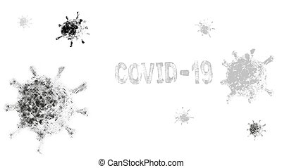Poster - Concept of covid-19 microbe, vector EPS10 - Concept...