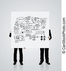 poster, concept, zakelijk