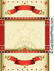Poster cream circus - A cream color circus background with...