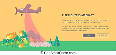 Poster Depicting Plane Putting Out Forest Fire - Poster...