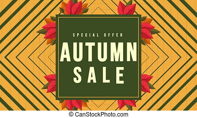 Poster design for autumn sale footage