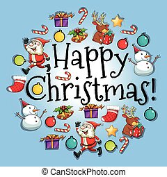 Poster design with christmas theme